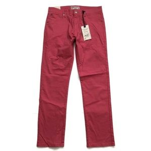 Alexander Julian Jean Chinos Slim Straight Red